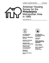 Current Housing Reports: American housing survey for the Philadelphia metropolitan area in ...
