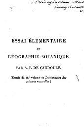Essai élémentaire de Geographie botanique