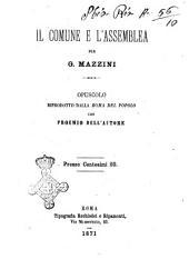 Il Comune e l'Assemblea opuscolo riprodotto dalla Roma del popolo con proemio dell'autore