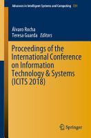 Proceedings of the International Conference on Information Technology   Systems  ICITS 2018  PDF