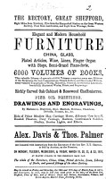 Catalogues of Items for Auction by Messrs  Alex  Davis   Thos  Palmer  1850 1880 PDF