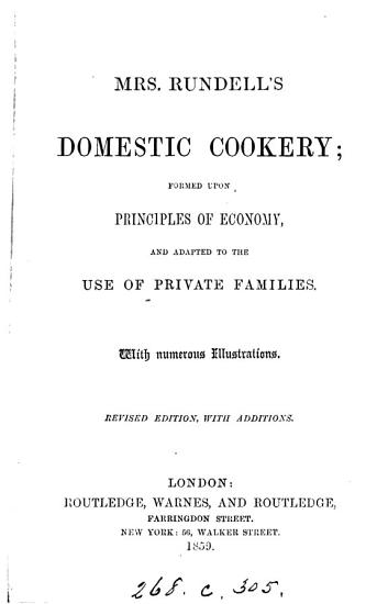 Mrs  Rundell s Domestic cookery PDF