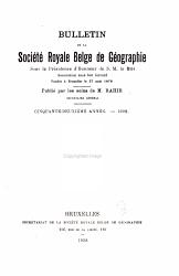 Bulletin de la Soci  t   royale belge de g  ographie PDF
