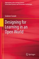 Designing for Learning in an Open World PDF
