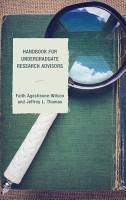 Handbook for Undergraduate Research Advisors PDF