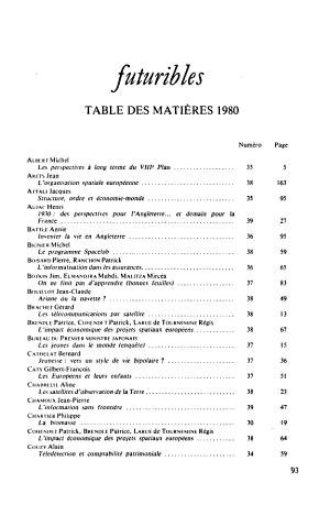 Futuribles deux mille PDF