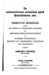 De coniunctionum causalium apud Quintilianum usu