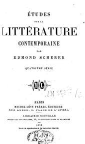 Etudes sur la littérature contemporaine: Sér. 3, 4, Volume2