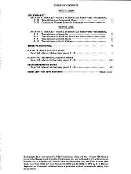 Bibliography index to Current U S  JPRS Translations PDF