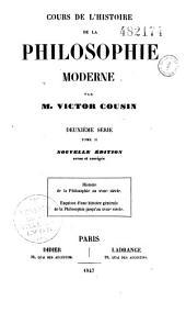 Cours de l'histoire de la philosophie moderne: Volume3