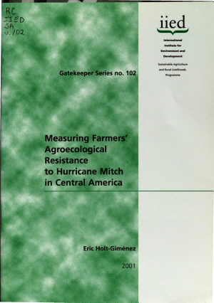 Measuring Farmers  Agroecological Resistance to Hurricane Mitch in Central America PDF
