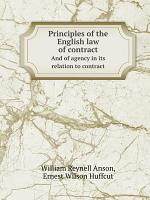Principles of the English law of contract PDF