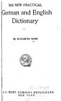 The new practical German and English dictionary PDF