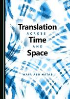 Translation across Time and Space PDF