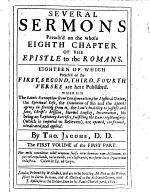 Several Sermons Preach'd on the Whole Eighth Chapter of the Epistle to the Romans