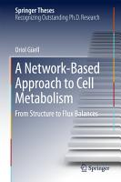 A Network Based Approach to Cell Metabolism PDF