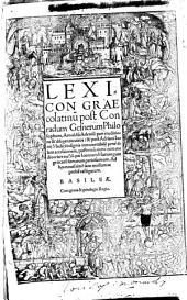 Lexicon graeco-latinum