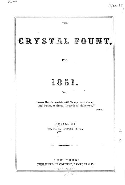 The Crystal Fount for 1851 PDF