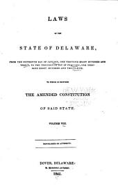 Laws of the State of Delaware: Volume 8
