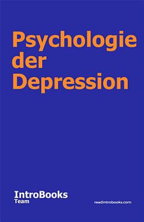 Psychologie der Depression PDF