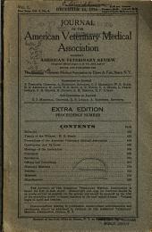 Journal of the American Veterinary Medical Association: Volume 3; Volume 50; Volume 4