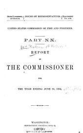 Report of the Commissioner for ...: Volume 15