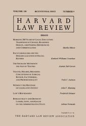 Harvard Law Review: Volume 130, Number 9 - Bicentennial Issue 2017: Issue 2017