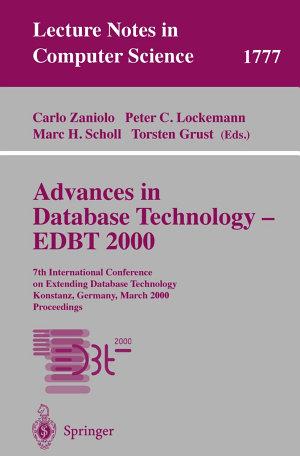 Advances in Database Technology - EDBT 2000