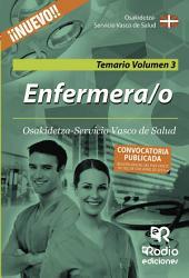 Enfermera/o de Osakidetza-Servicio Vasco de Salud. Temario. Volumen 3