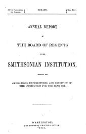 Annual Report of the Board of Regents of the Smithsonian Institution: 1862