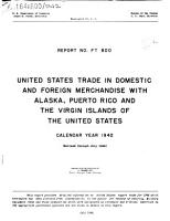 U S  Trade in Merchandise and Gold and Silver with U S  Territories and Possessions  Except Alaska and Hawaii PDF