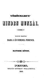 Vörösmarty' minden munkái: 6-7. kötet