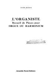 L'organiste: recueil de pièces pour orgue ou harmonium