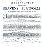 A Plain Declaration of the Vulgar New Heavens Flatform. Serving not onely fore this age, but also fore the future age of 100 years. [Written to accompany a dialling instrument. By Edmund Halley?]