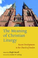 The Meaning of Christian Liturgy PDF