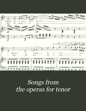 Songs from the operas for tenor