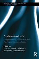 Family Multinationals PDF