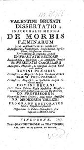 De morbis faeminarum. Diss. inaug. med