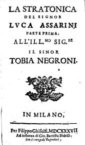 La Stratonica: Volume 1