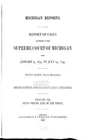 Michigan Reports. 1. VOL. 1-200 ONLY: Volume 29
