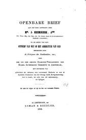 Openbare Brief aan den Edel achtbaren Heer Mr. J. Heemskerk, Azn. ... na de lezing zijner Besehouwing van het Ontwerp van Wet op het Armbestuur von 1851