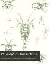 Philosophical Transactions: Volume 173, Part 1