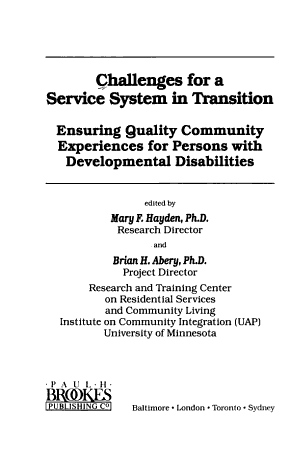 Challenges for a Service System in Transition PDF