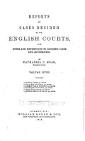 Reports of Cases Decided by the English Courts PDF