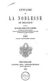 Annuaire de la noblesse de Belgique: Volume21