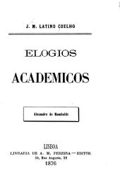 Elogios academicos: Alexandre de Humboldt. 1876