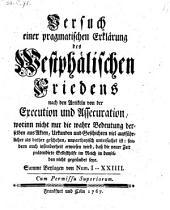 Versuch einer pragmatischen Erklärung des Westphälischen Friedens nach den Artikeln von der Execution und Assecuration (etc.): Ausgaben 1-24
