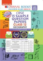 Oswaal CBSE Sample Question Papers Class 12 Geography Book  Reduced Syllabus for 2021 Exam  PDF