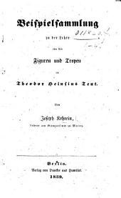 Beispielsammlung zu der Lehre von den Figuren und Tropen in T. Heinsius Teut
