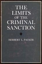 The Limits of the Criminal Sanction PDF
